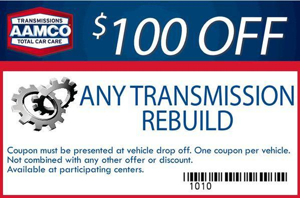 Image of $100 off Transmission Rebuild Repairs