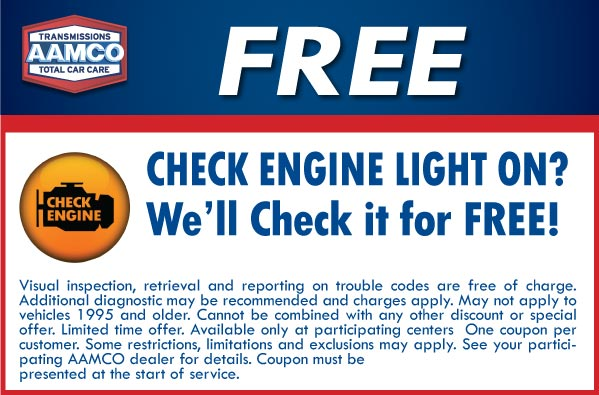 Image of Free check Engine Light Coupon